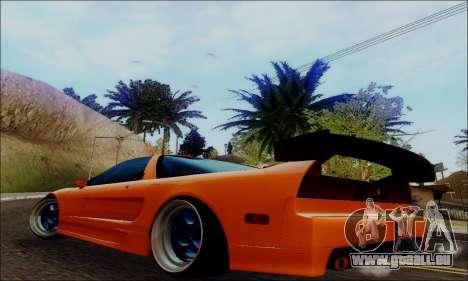 Acura NSX Drift pour GTA San Andreas laissé vue