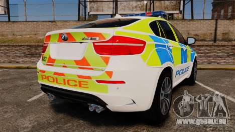 BMW X6 Lancashire Police [ELS] pour GTA 4 Vue arrière de la gauche