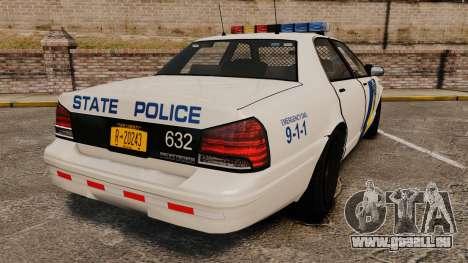 GTA V Vapid State Police Cruiser [ELS] pour GTA 4 Vue arrière de la gauche