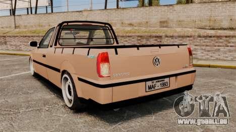 Volkswagen Saveiro G3 SuperSurf pour GTA 4 Vue arrière de la gauche