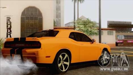 Dodge Challenger SRT8 2012 HEMI pour GTA San Andreas vue arrière