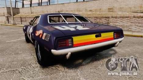 Plymouth Cuda AAR 1970 pour GTA 4 Vue arrière de la gauche