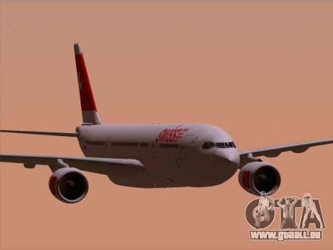 Airbus A330-223 Swiss International Airlines pour GTA San Andreas vue de dessous