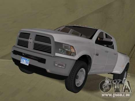 Dodge Ram 3500 Laramie 2012 pour GTA Vice City vue latérale