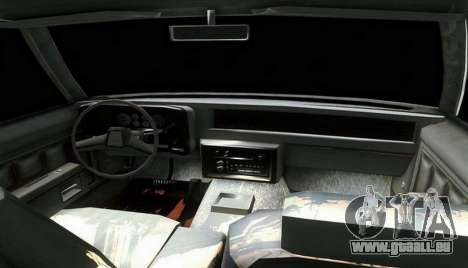 Chevrolet Malibu 1981 pour GTA San Andreas sur la vue arrière gauche