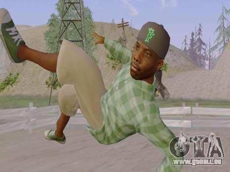 Le membre de gang de Grove Street de GTA 5 pour GTA San Andreas septième écran