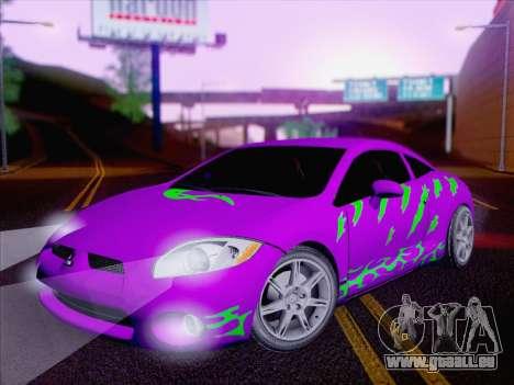 Mitsubishi Eclipse v4 pour GTA San Andreas vue de dessous