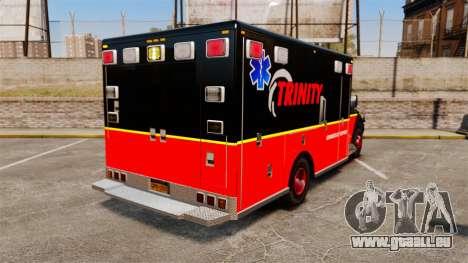 Landstalker L-350 Trinity EMS Ambulance [ELS] pour GTA 4 Vue arrière de la gauche