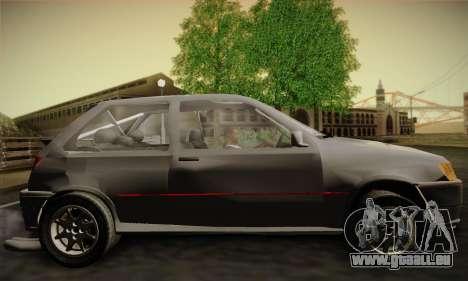Ford Fiesta Mk3 XR2i für GTA San Andreas zurück linke Ansicht