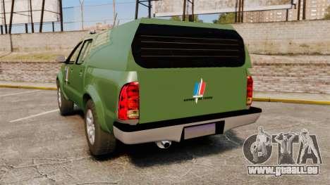 Toyota Hilux Land Forces France [ELS] pour GTA 4 Vue arrière de la gauche