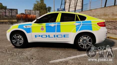 BMW X6 Lancashire Police [ELS] pour GTA 4 est une gauche