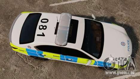 Lexus GS350 West Midlands Police [ELS] für GTA 4 rechte Ansicht