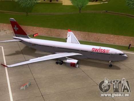 Airbus A330-223 Swiss International Airlines pour GTA San Andreas moteur