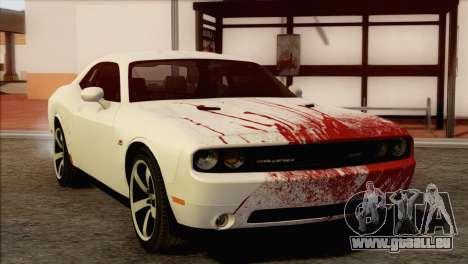 Dodge Challenger SRT8 2012 HEMI pour GTA San Andreas vue de dessus