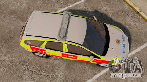 Ford Focus Estate 2009 Fire Car England [ELS] pour GTA 4 est un droit