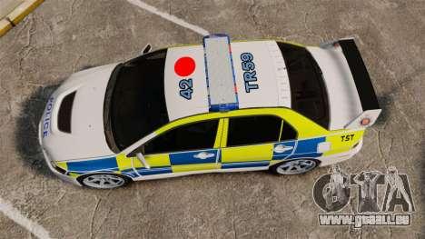 Mitsubishi Lancer Evolution IX Uk Police [ELS] für GTA 4 rechte Ansicht