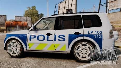 Mitsubishi Pajero Finnish Police [ELS] pour GTA 4 est une gauche