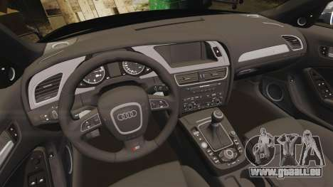 Audi S4 Police [ELS] pour GTA 4 est une vue de l'intérieur