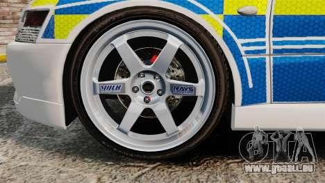 Mitsubishi Lancer Evolution IX Uk Police [ELS] pour GTA 4 Vue arrière