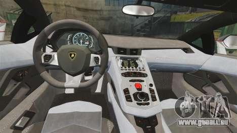 Lamborghini Aventador LP700-4 2012 [EPM] Lamotte pour GTA 4 est une vue de l'intérieur