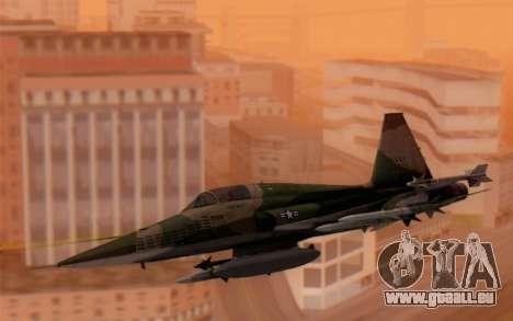 F-5 Tiger II für GTA San Andreas zurück linke Ansicht