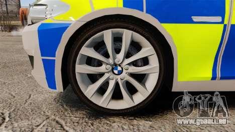 BMW 550i Metropolitan Police [ELS] pour GTA 4 Vue arrière