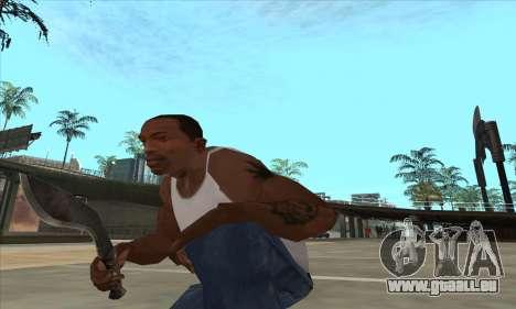Kukri couteau-machette pour GTA San Andreas troisième écran