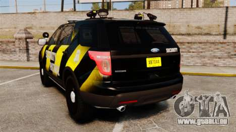 Ford Explorer 2013 Security Patrol [ELS] für GTA 4 hinten links Ansicht
