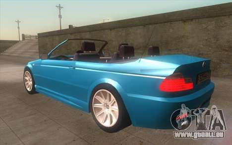 BMW 325Ci 2003 pour GTA San Andreas laissé vue