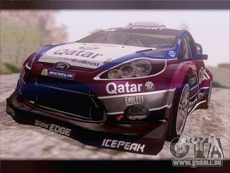 Ford Fiesta RS WRC 2013 pour GTA San Andreas sur la vue arrière gauche