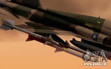 F-5 Tiger II für GTA San Andreas rechten Ansicht