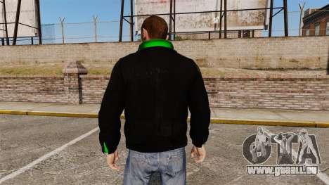 Veste noire avec un vert olympique pour GTA 4 secondes d'écran