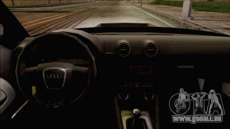 Audi S3 pour GTA San Andreas vue de droite