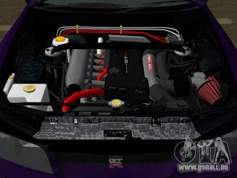 Nissan SKyline GT-R BNR33 für GTA Vice City obere Ansicht