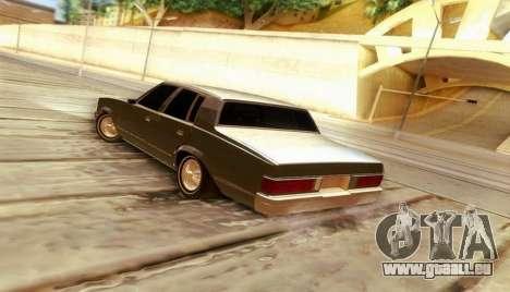 Chevrolet Malibu 1981 pour GTA San Andreas laissé vue