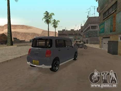 Suzuki Alto Lapin pour GTA San Andreas vue arrière