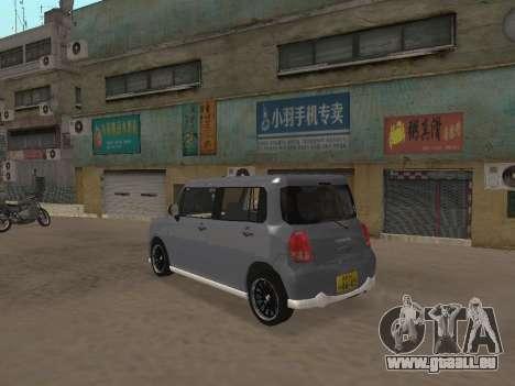 Suzuki Alto Lapin für GTA San Andreas Innenansicht