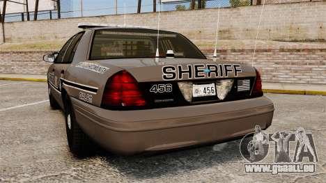 Ford Crown Victoria 2008 Sheriff Patrol [ELS] für GTA 4 hinten links Ansicht