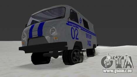 UAZ-3741 GIBDD für GTA Vice City zurück linke Ansicht