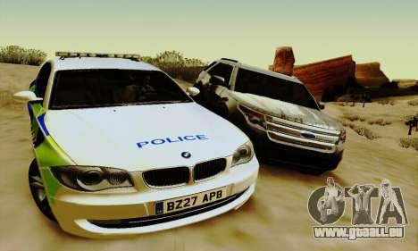 BMW 120i SE Police pour GTA San Andreas vue de droite