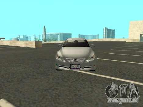 Toyota Mark X für GTA San Andreas Innenansicht