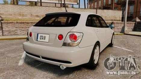Toyota Altezza Gita pour GTA 4 Vue arrière de la gauche