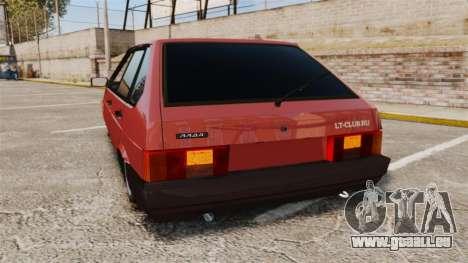 Vaz-2109 pour GTA 4 Vue arrière de la gauche