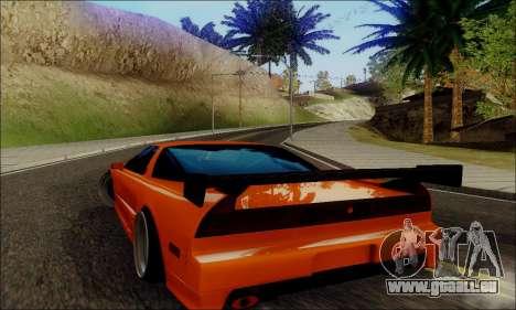 Acura NSX Drift pour GTA San Andreas sur la vue arrière gauche