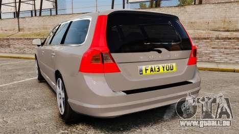 Volvo V70 Unmarked Police [ELS] für GTA 4 hinten links Ansicht