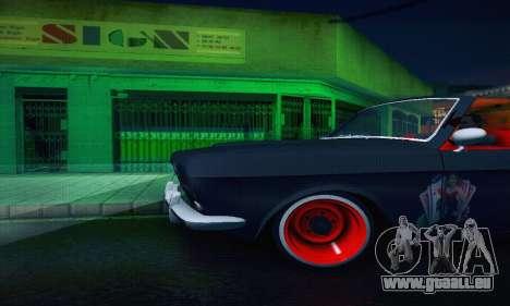 GAZ Volga 24 Cabriolet pour GTA San Andreas vue de dessus