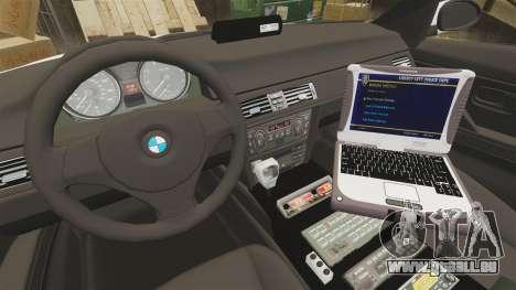 BMW 330i Ambulance [ELS] pour GTA 4 Vue arrière
