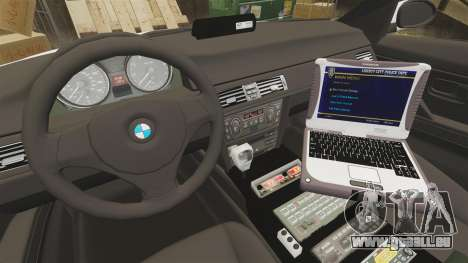 BMW 330i Ambulance [ELS] für GTA 4 Rückansicht