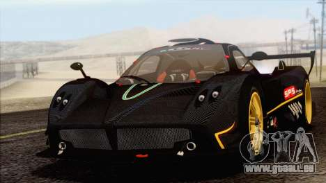 Pagani Zonda R SPS v3.0 Final für GTA San Andreas Rückansicht