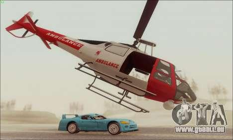 GTA V Ambulacia Maverick pour GTA San Andreas sur la vue arrière gauche